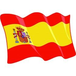Pegatina Bandera España con Escudo Constitucional