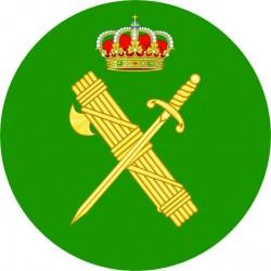 Pegatina Guardia Civil Redonda sin Orla