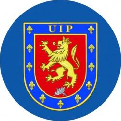 Pegatina Policia UIP rectangular