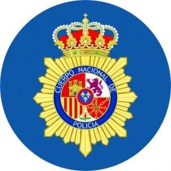 Pegatina Policía Nacional Redondo España