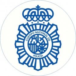 Pegatina Policía Nacional Redondo Lineas Azules