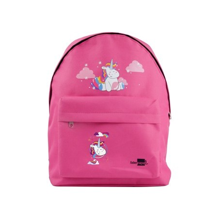 CARTERA ESCOLAR LIDERPAPEL MOCHILA UNICORNIO COLOR ROSA 380X280X120MM