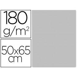 CARTULINA LIDERPAPEL 50X65 180 GR GRIS PAQUETE DE 25