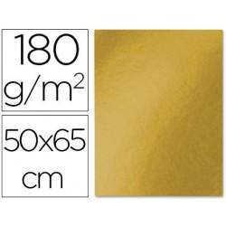 CARTULINA LIDERPAPEL 50X65 180 GR ORO VIEJO PAQUETE DE 25