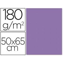 CARTULINA LIDERPAPEL 50X65 180 GR PURPURA PAQUETE DE 25