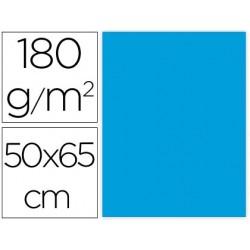CARTULINA LIDERPAPEL 50X65 CM 180G/M2 CELESTE PAQUETE DE 25