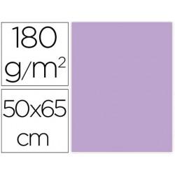 CARTULINA LIDERPAPEL 50X65 CM 180G/M2 LILA PAQUETE DE 25