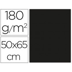 CARTULINA LIDERPAPEL 50X65 CM 180G/M2 NEGRO PAQUETE DE 25