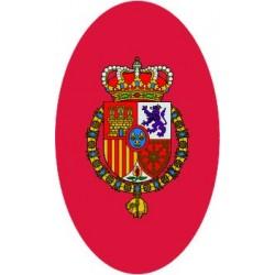 Pegatina Casa Real Felipe VI Redondo Sin Orla