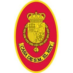 Pegatina Casa Real Felipe VI Ovalado Sin Orla