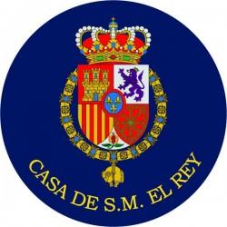 Pegatina Casa Real Felipe VI Redondo Con Orla
