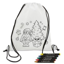 Mochila Infantil Animales Coloreable