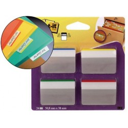 BANDERITAS SEPARADORAS RIGIDAS DISPENSADOR 4 COLORES POST-IT INDEX 686A-1 GRANDES 24 BANDERITAS