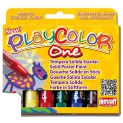 Tempera solida en barra playcolor escolar caja de 6...