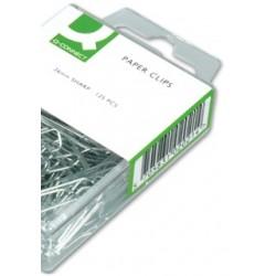 Clips niquelados q-connect -26 mm -caja de 125 unidades