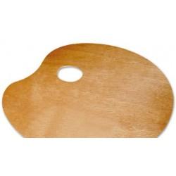 Paleta madera lidercolor ovalada tamaño 20x30 cm grosor...
