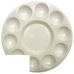 Paleta plastico artist circular con 10 huecos tamaño 17cm