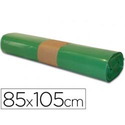 BOLSA BASURA INDUSTRIAL VERDE 85X105CM GALGA 110 ROLLO DE...