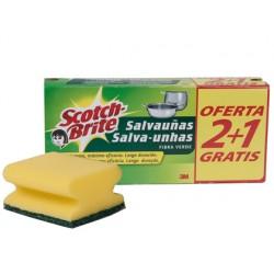 ESTROPAJO SALVAU?AS SCOTCH BRITE FIBRA VERDE PAQUETE 3X2