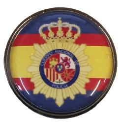 Pin Policia Nacional España con Orla en resina