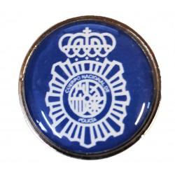 Pin Policia Nacional Lineas Fondo Azul en resina