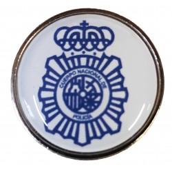 Pin Policia Nacional Lineas Fondo Blanco en resina