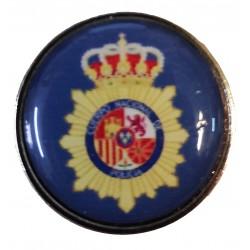 Pin Policia Nacional Fondo azul en resina
