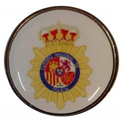 Pin Policia Nacional Fondo Blanco en resina