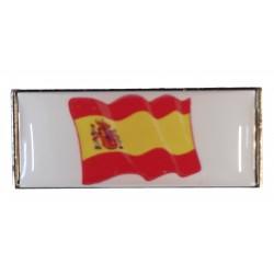 Pin Rectangular España con escudo en resina