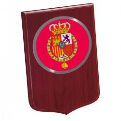 Metopa Madera mini 190x135mm Con Chapa Casa Real carmesi