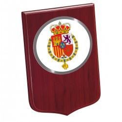 Metopa Madera Mini 190x135mm Con Chapa Casa Real Blanco