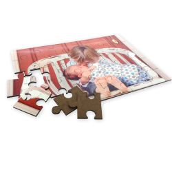 Puzzle de madera A4 de Sublimación 60 Piezas