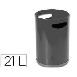 PAPELERA METALICA CON ASAS 101 NEGRA -32X21 CM 12 LITROS