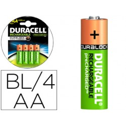 PILA DURACELL RECARGABLE STAYCHARGED AA 2400 MAH BLISTER...