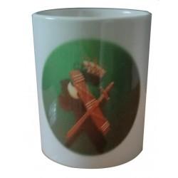Taza Cerámica Guardia Civil Verde