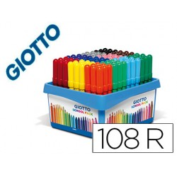 ROTULADOR GIOTTO TURBO MAXI SCHOOL PACK DE 108 UNIDADES...
