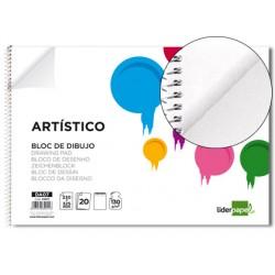 Bloc dibujo liderpapel artistico espiral 230x325mm 20...