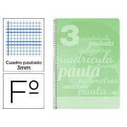 Cuaderno espiral liderpapel folio pautaguia tapa plastico...