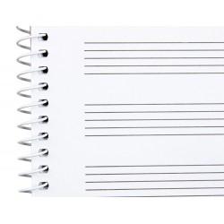 Bloc musica liderpapel pentagrama 3mm folio apaisado 20...