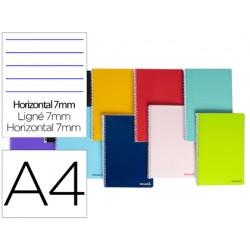 Cuaderno espiral liderpapel a4 micro smart tapa blanda...