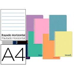 Cuaderno espiral liderpapel a4 wonder tapa plastico 80h...