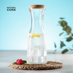 BOTELLA Cristal con tapon de corcho natural LONPEL