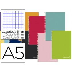 Cuaderno espiral liderpapel a5 micro jolly tapa forrada...