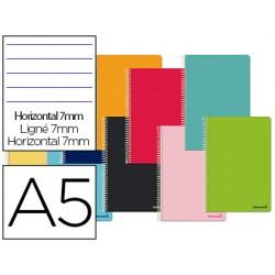 Cuaderno espiral liderpapel a5 micro smart tapa blanda...
