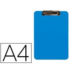 Portanotas q-connect plastico din a4 celeste 2,5mm