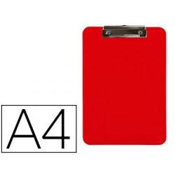 Portanotas q-connect plastico din a4 rojo 2,5mm