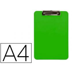 Portanotas q-connect plastico din a4 verde 2,5mm
