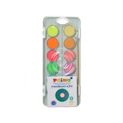 Acuarela primo 8 colores metal + 4 colores neon con...