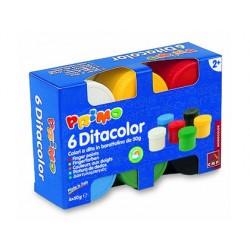 Pintura de dedos primo 50 g caja de 6 unidades colores...