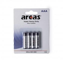 Blister 4 pilas AAA/R03 1,5V